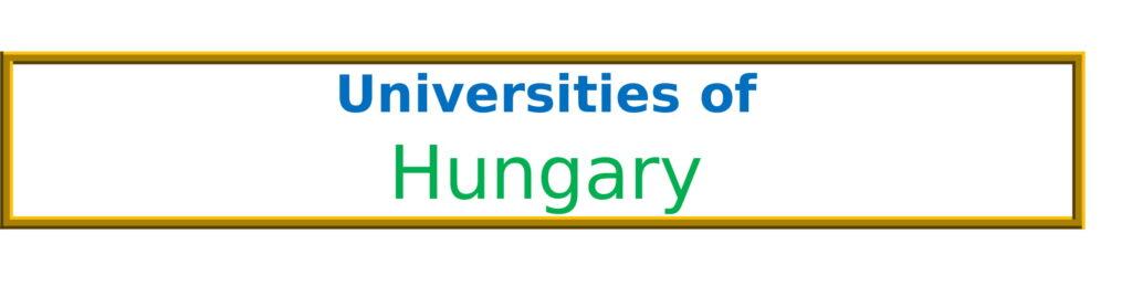 List of Universities in Hungary