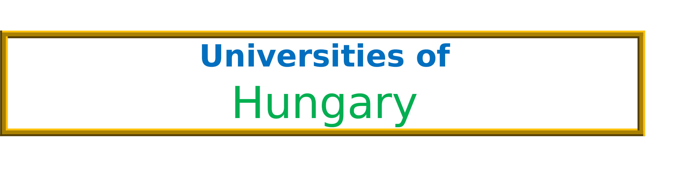 List of Universities in Hungary