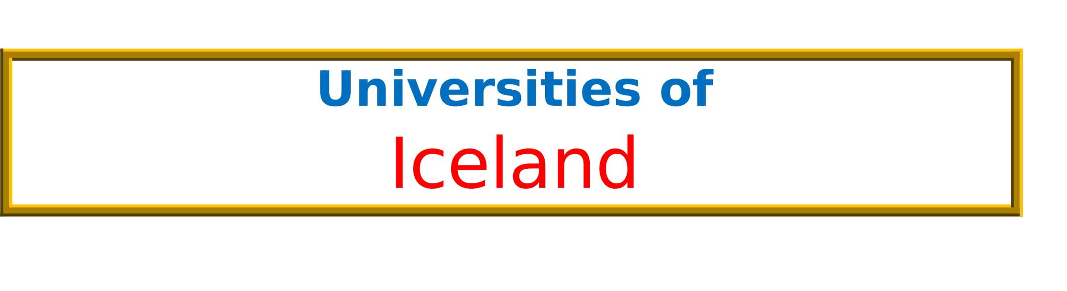 List of Universities in Iceland
