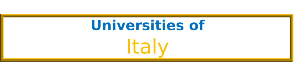 List of Universities in Italy