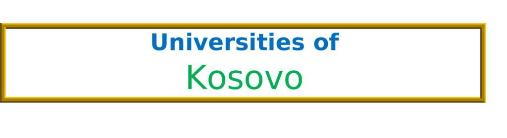 List of Universities in Kosovo