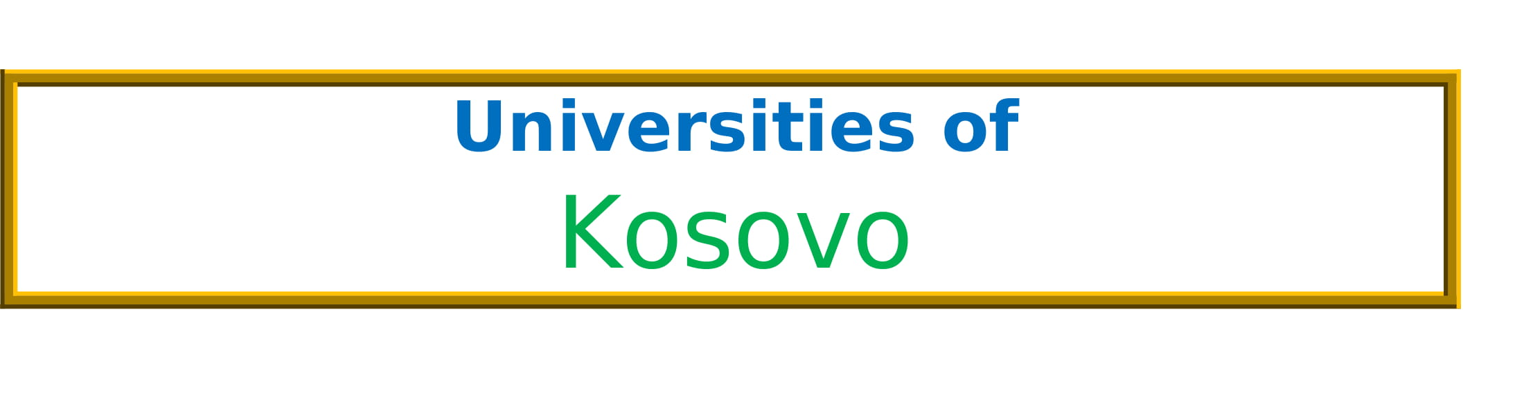 List of Universities in Kosovo