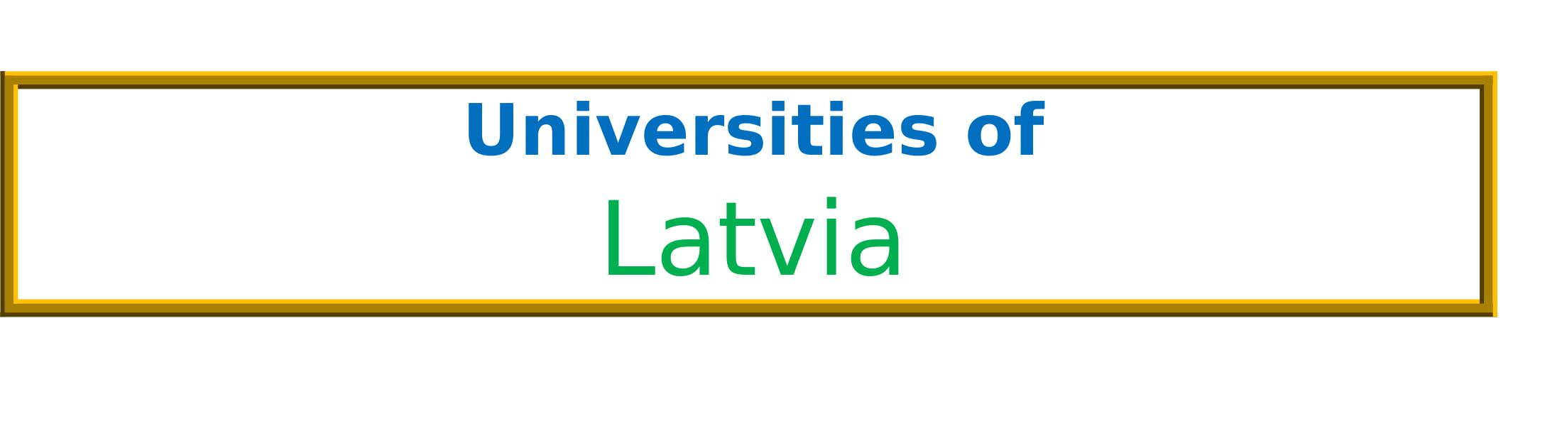 List of Universities in Latvia