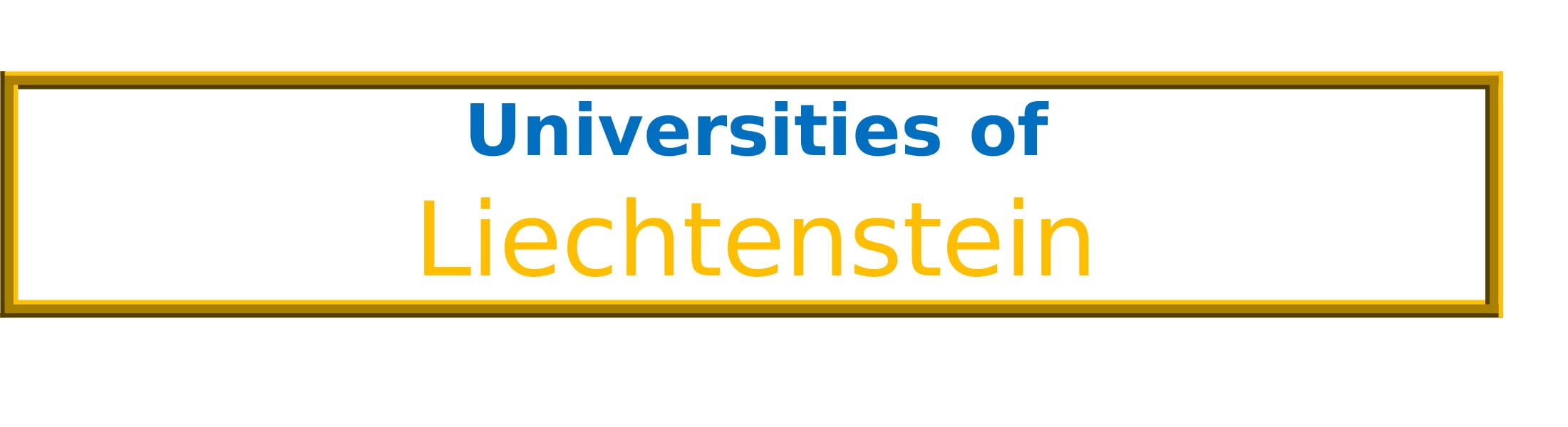 List of Universities in Liechtenstein