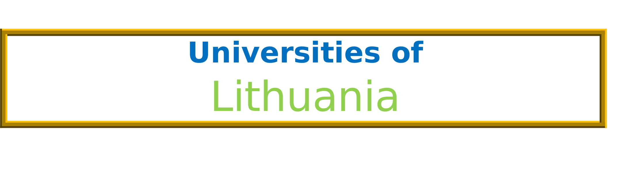 List of Universities in Lithuania
