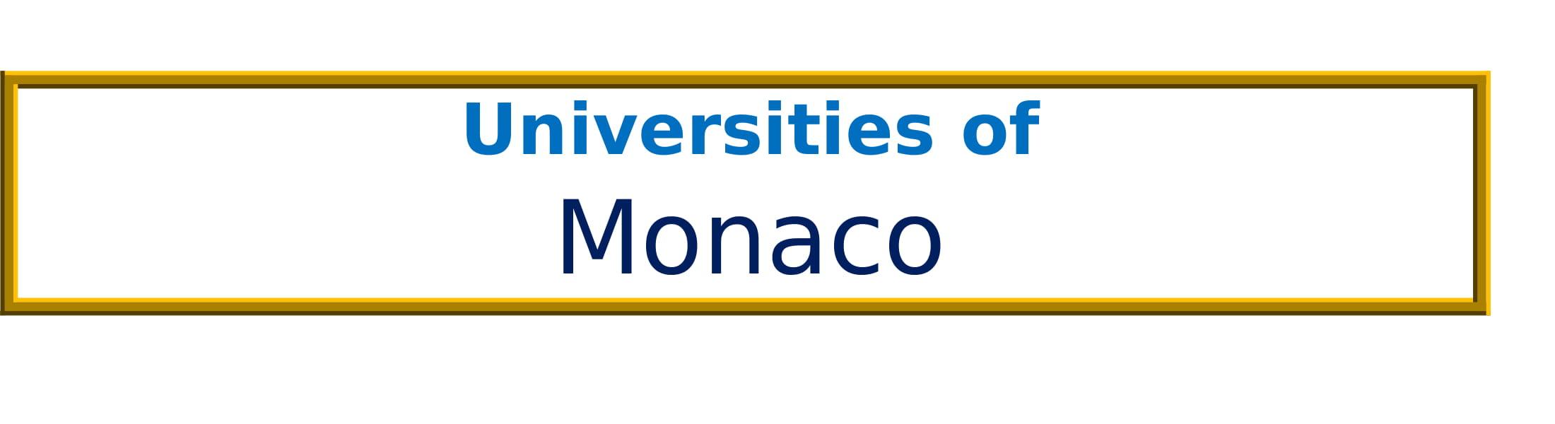 List of Universities in Monaco