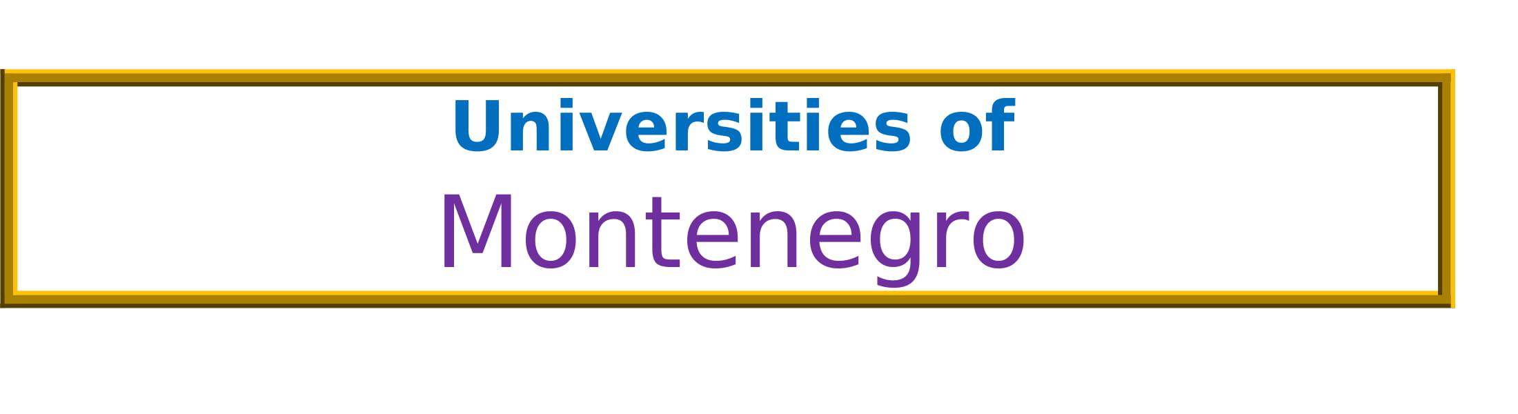 List of Universities in Montenegro