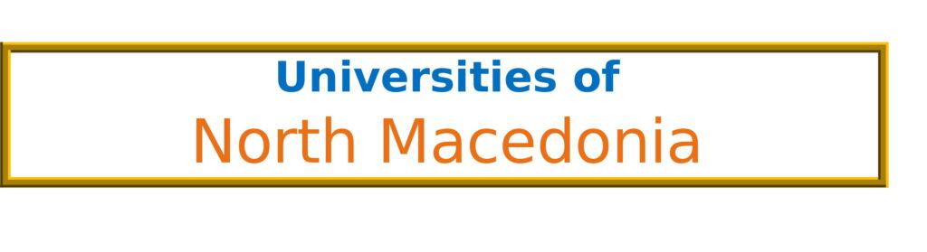 List of Universities in North Macedonia