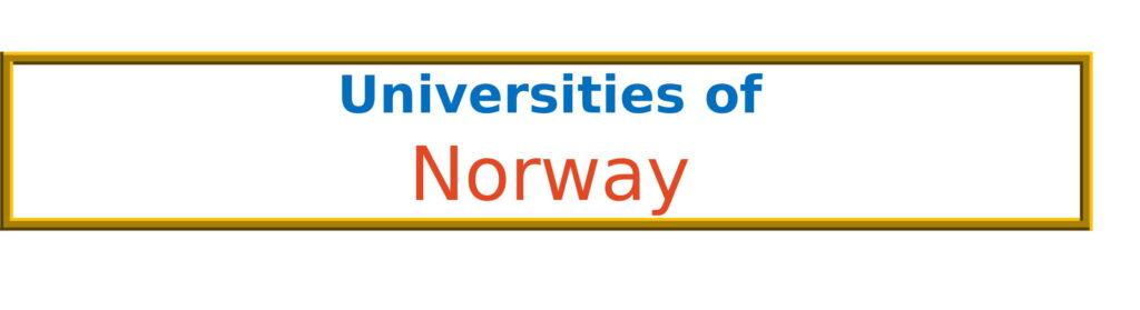 List of Universities in Norway