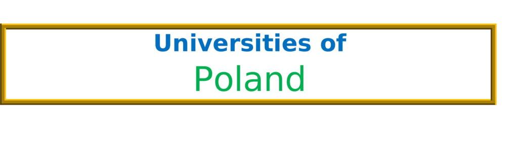List of Universities in Poland