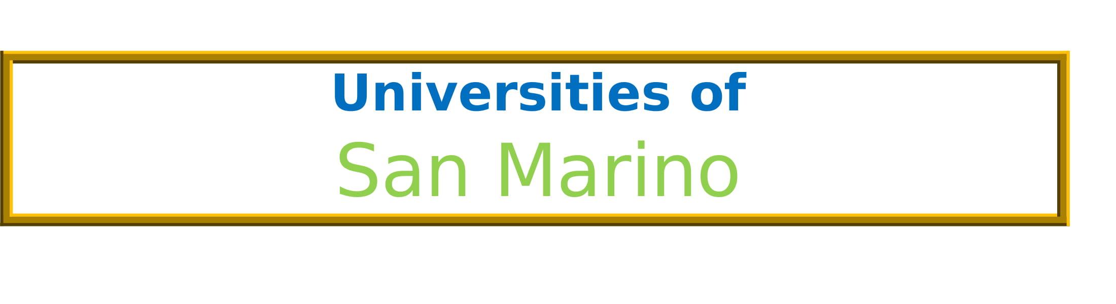 List of Universities in San Marino