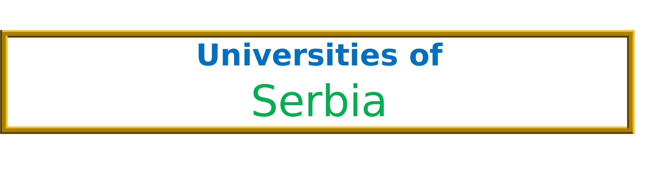 List of Universities in Serbia