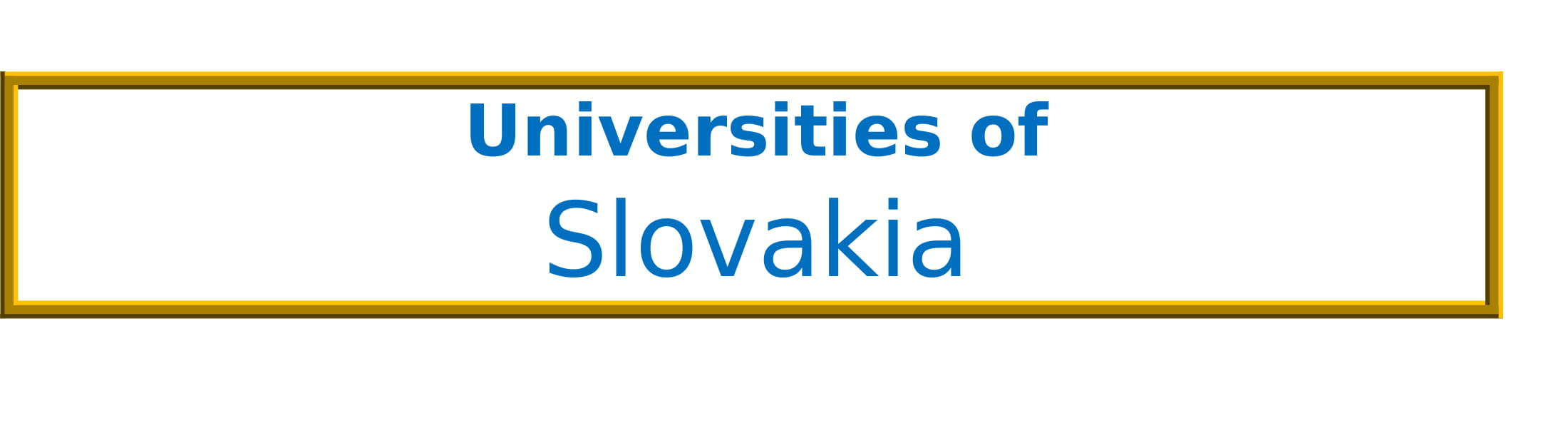 List of Universities in Slovakia