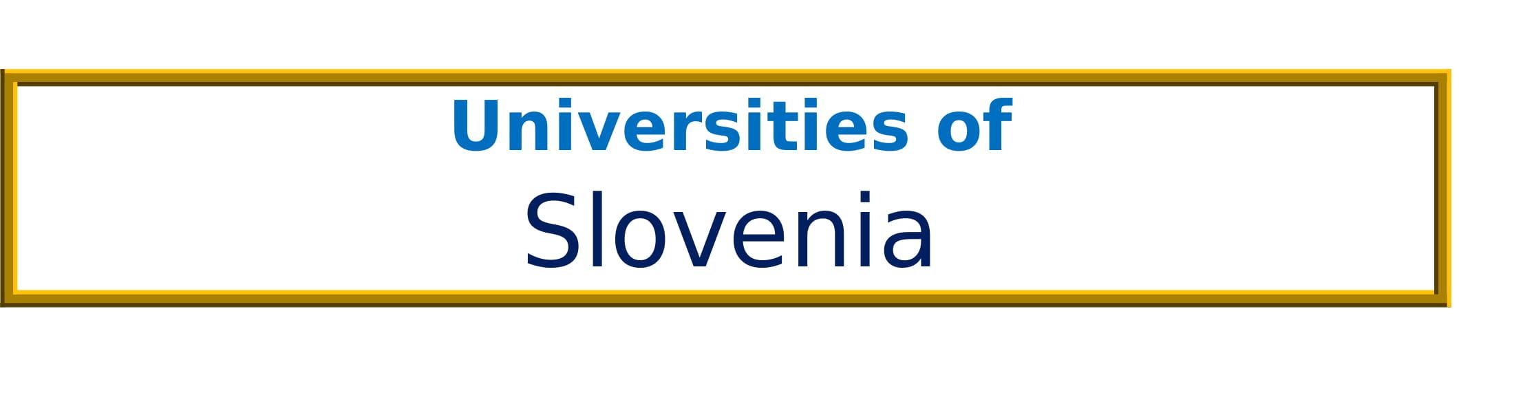 List of Universities in Slovenia