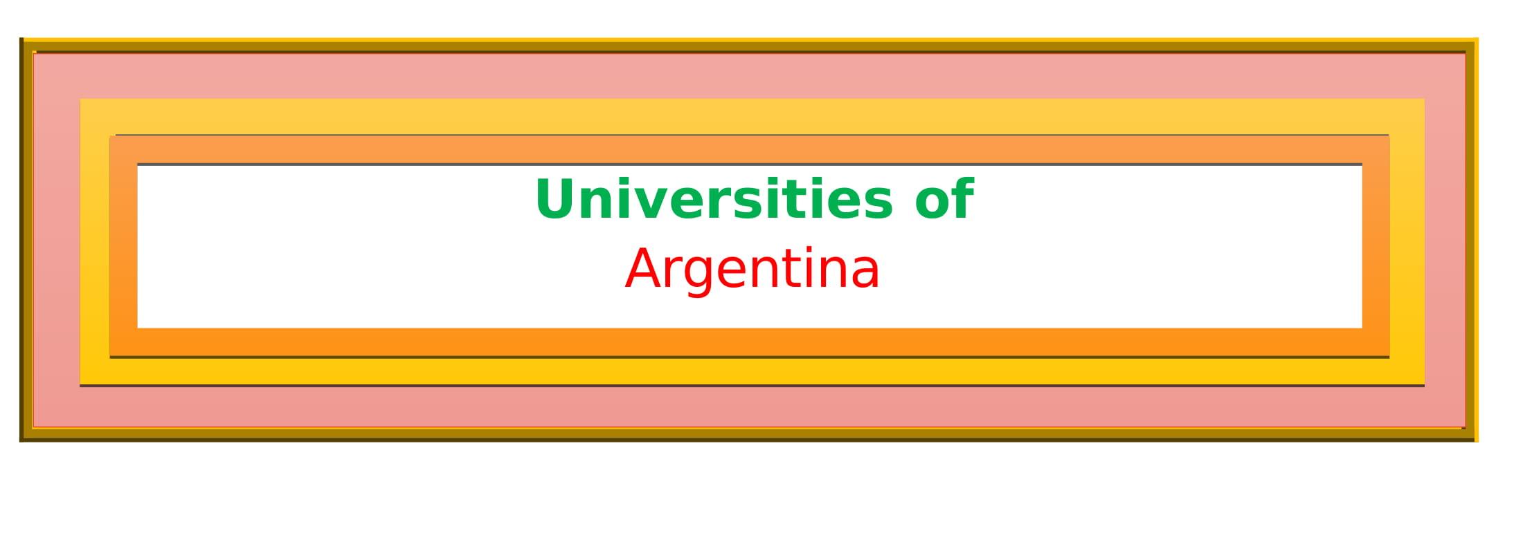 List of Universities in Argentina