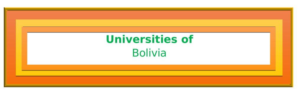 List of Universities in Bolivia