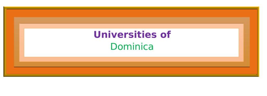 List of Universities in Dominica