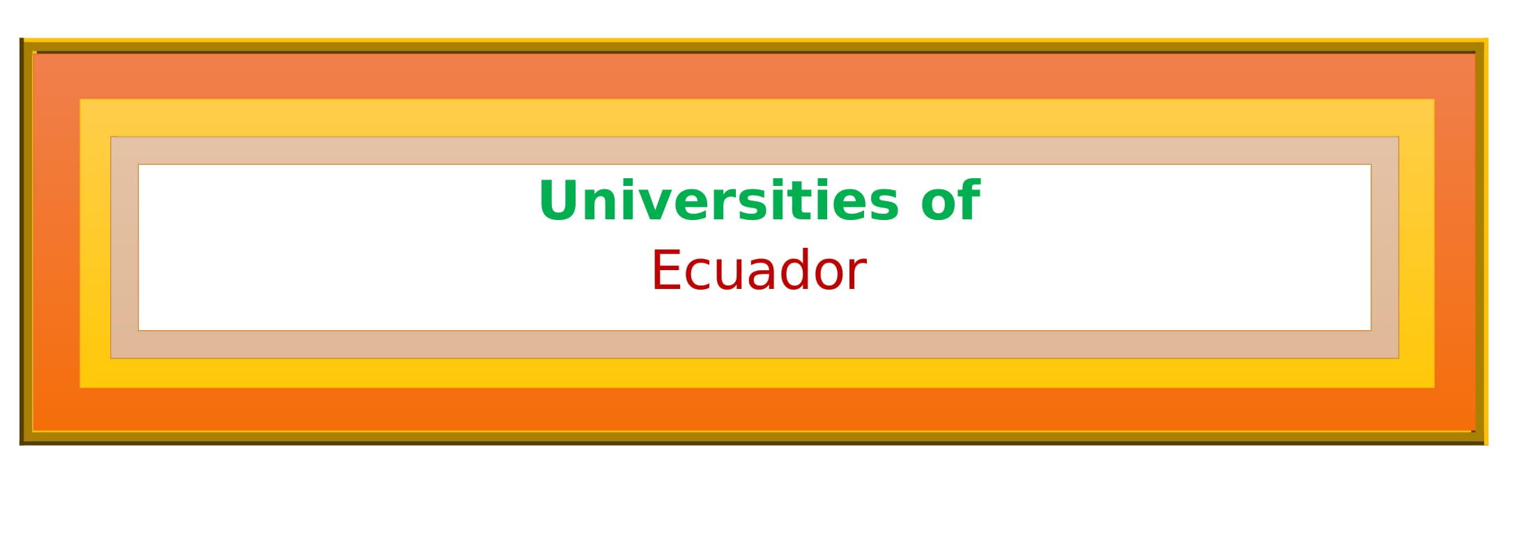 List of Universities in Ecuador