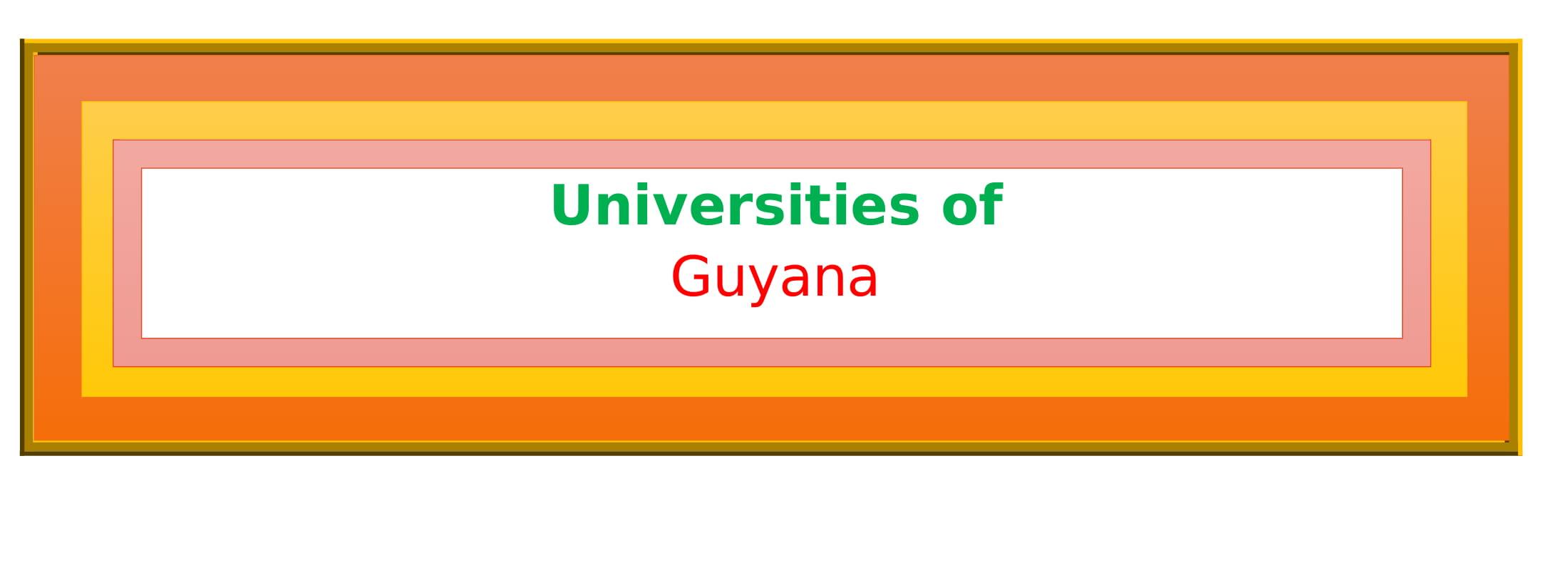List of Universities in Guyana