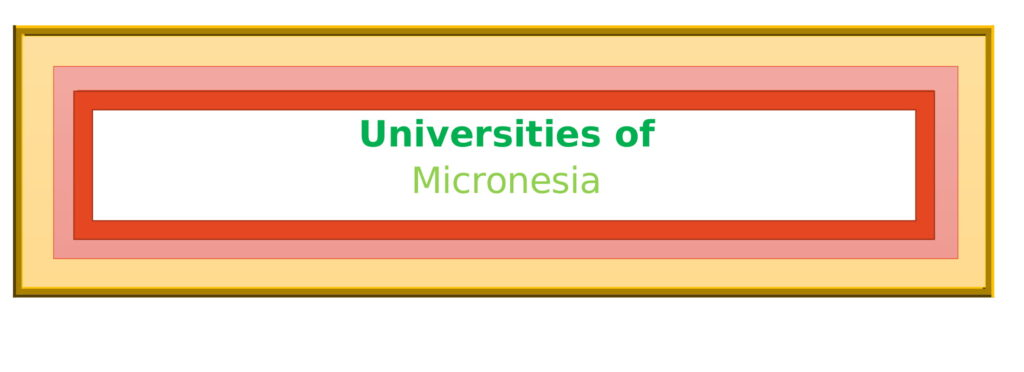 List of Universities in Micronesia