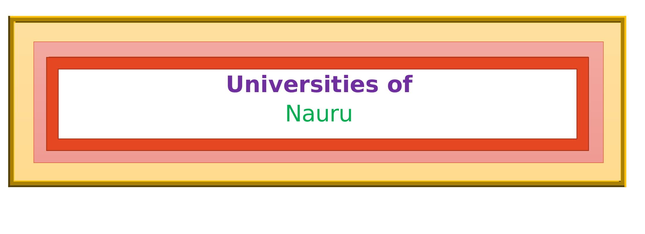 List of Universities in Nauru
