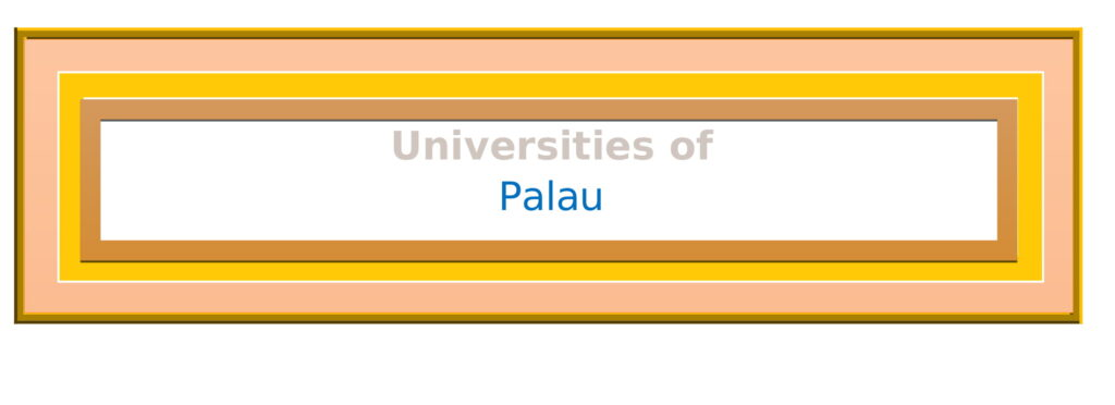 List of Universities in Palau