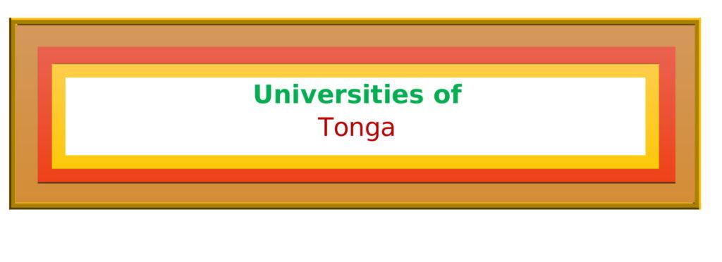 List of Universities in Tonga