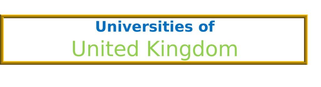 List of Universities in United Kingdom