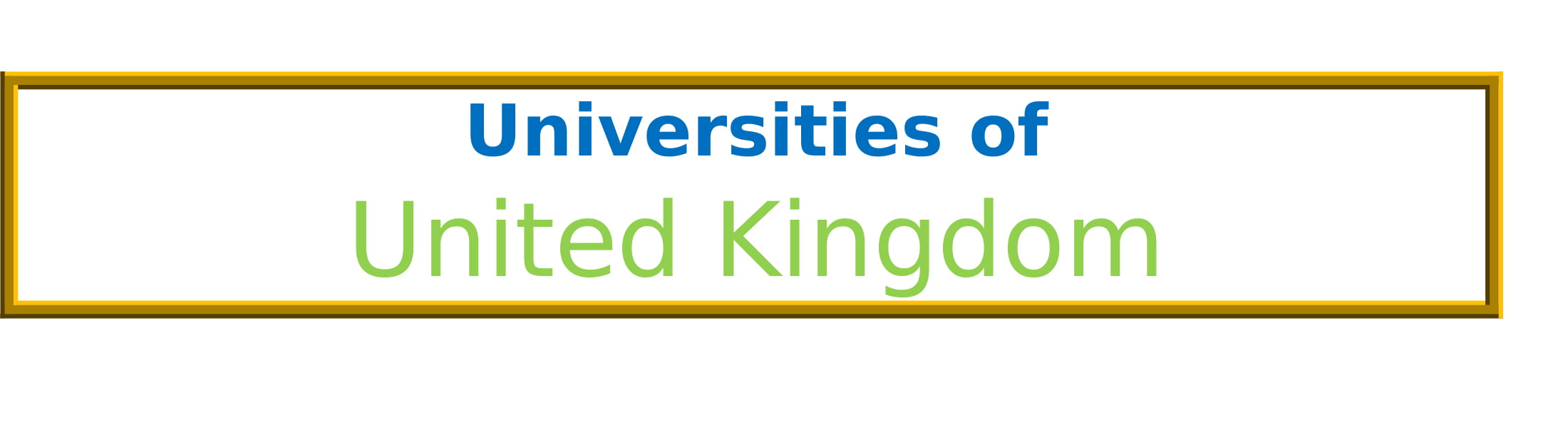 List of Universities in United Kingdom