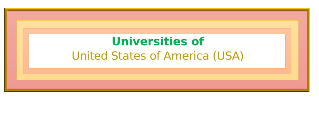 List of Universities in United States of America