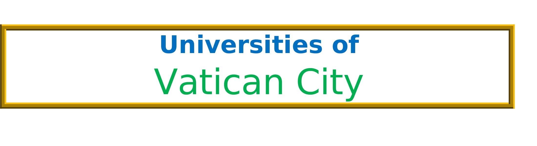 List of Universities in Vatican City