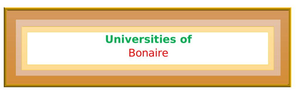 List of Universities in Bonaire