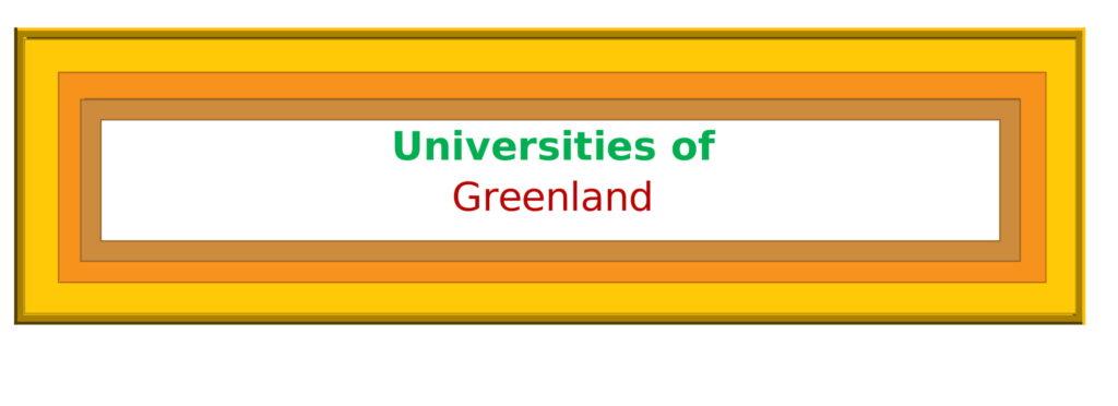 List of Universities in Greenland