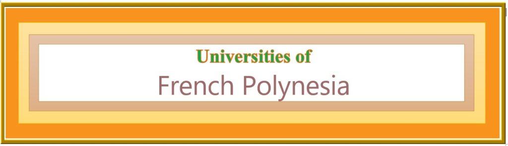 List of Universities in French Polynesia