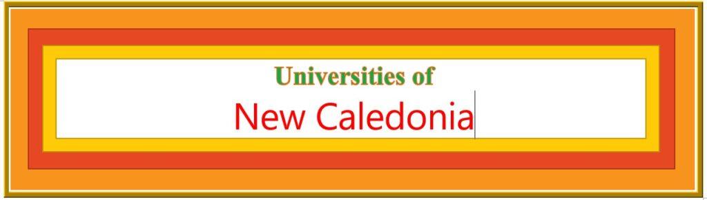 List of Universities in New Caledonia