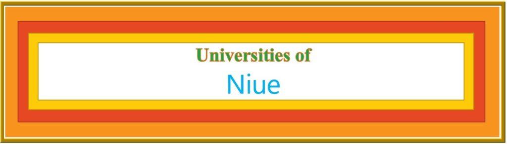 List of Universities in Niue