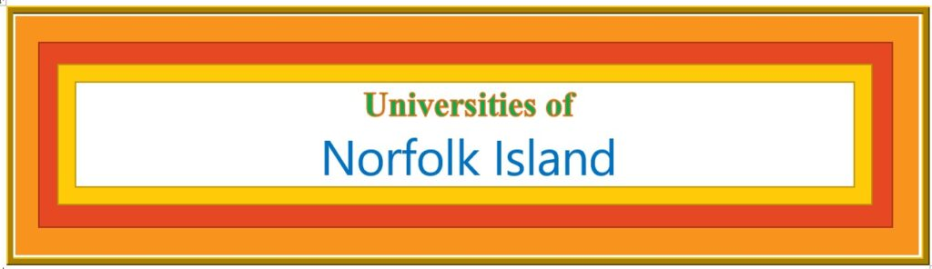 List of Universities in Norfolk Island