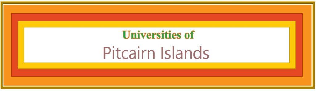 List of Universities in Pitcairn Islands