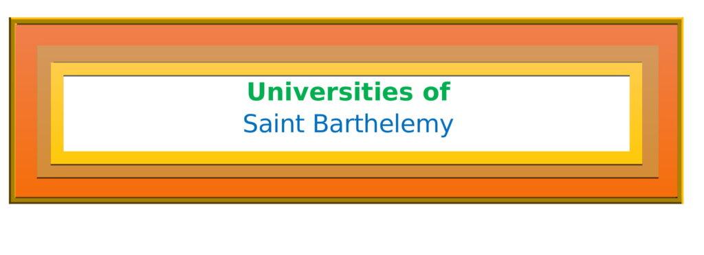 List of Universities in Saint Barthelemy