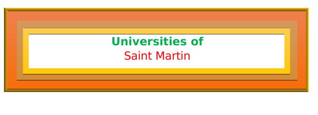 List of Universities in Saint Martin