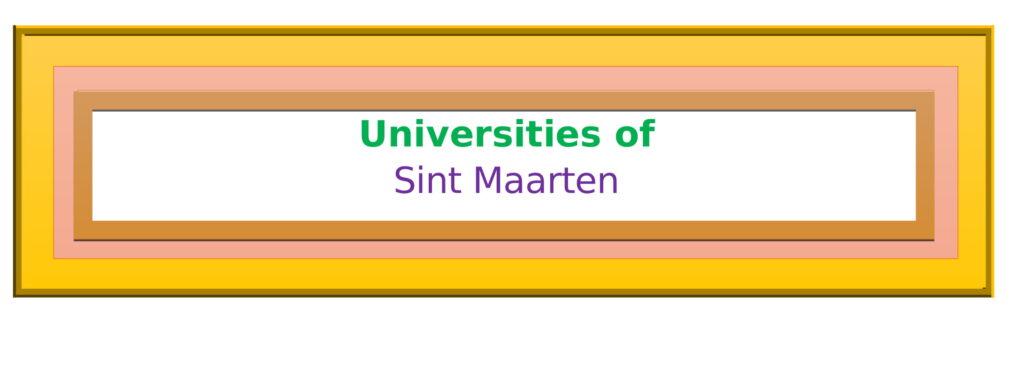 List of Universities in Sint Maarten